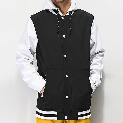 Wholesale Mens Varsity Jacket With Hood