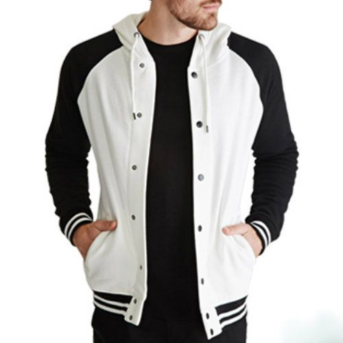 WholesaleClassy Black and White Mens Varsity Jackets