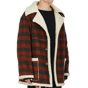 Wholesale Red Fur-Lined Flannel Jacket