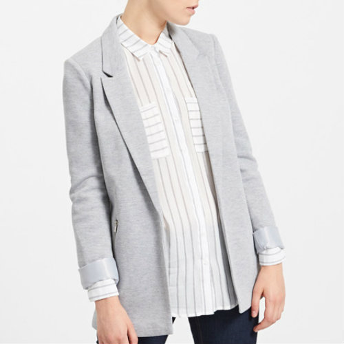 Metallic Grey Designer Suit Jacket Manufacturer