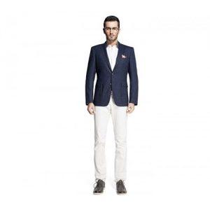 Navy Blue Designer Suit Jacket