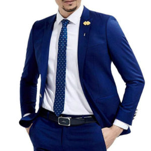 Navy Blue Designer Suit Jacket Manufacturer