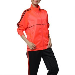 Wholesale Orange and Black Tracksuit Set
