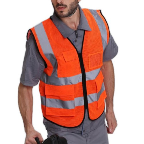 Wholesale Orange and White Safety Vests Manufacturer