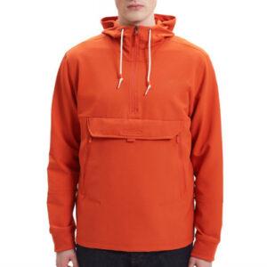 Orange Pull Over Fleece Jacket Manufacturer