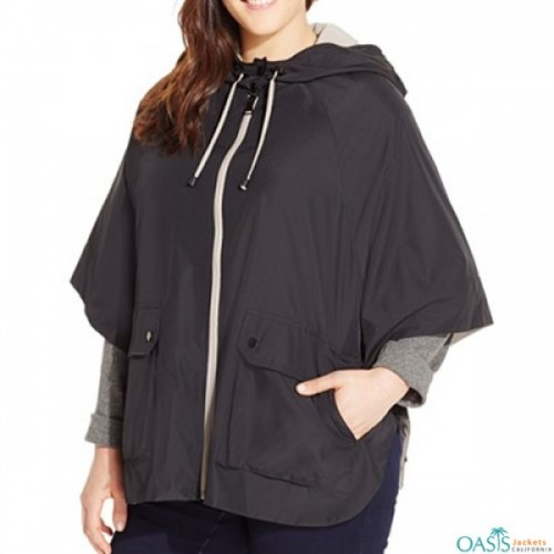 Oversized Hooded Rain Jacket