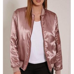 Pale Pink Satin Puffer Jacket Manufacturer