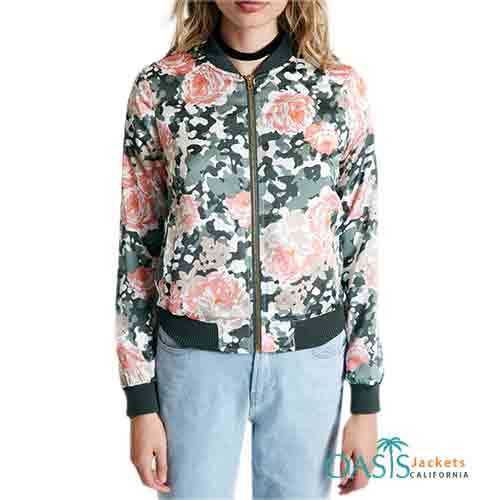 Peppy Floral Women Bomber Jacket