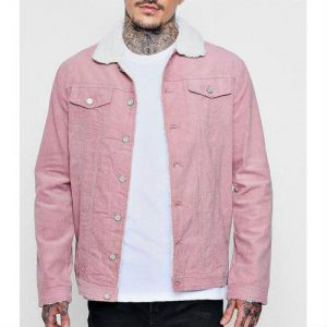 Wholesale Bloom Dale Pink Varsity Jacket