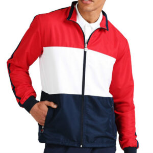Red and White Fitness Jacket Manufacturer