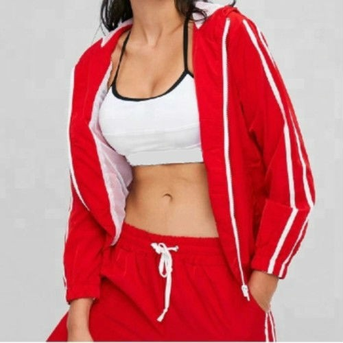 Wholesale Red Fullsleeve Style Sports Tracksuit