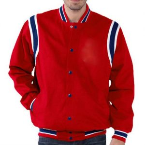 Wholesale Radiant Red Varsity Jacket