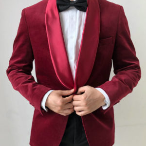 Red Padded Suit Jacket Manufacturer