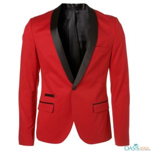 Red Padded Suit Jacket