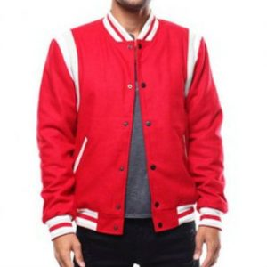 Wholesale Bright Red Varsity Jacket