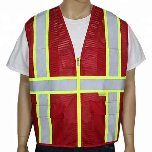 Wholesale Red and Yellow Safety Reflective Vests