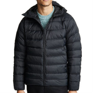 sleek black down jacket manufacturer