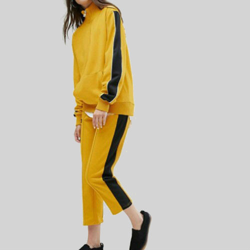 Wholesale Snug Yellow Black Tracksuit Manufacturer