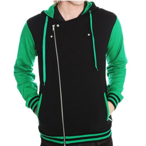 Wholesale Green Soothing Varsity Jacket