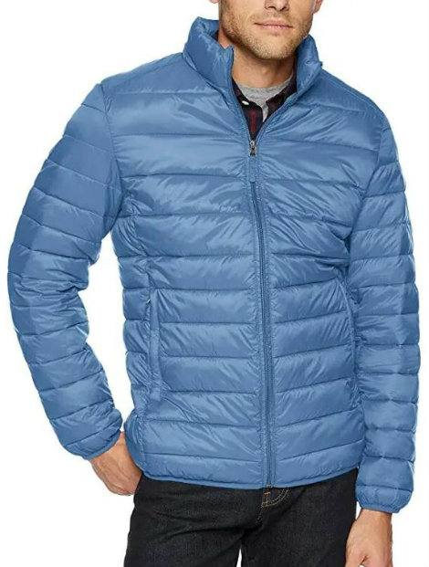 Wholesale Steel Blue Micro Down Jacket