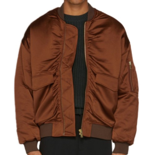 Wholesale Striking Brown Quilted Jacket