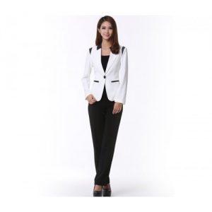 Tailored White Designer Suit jacket