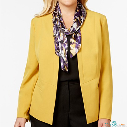 Tailored Yellow Plus Shrug