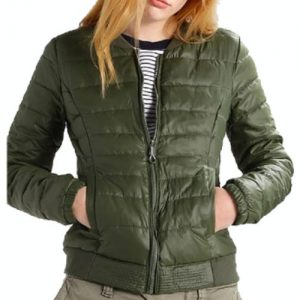 Textured Green Quilted Jacket