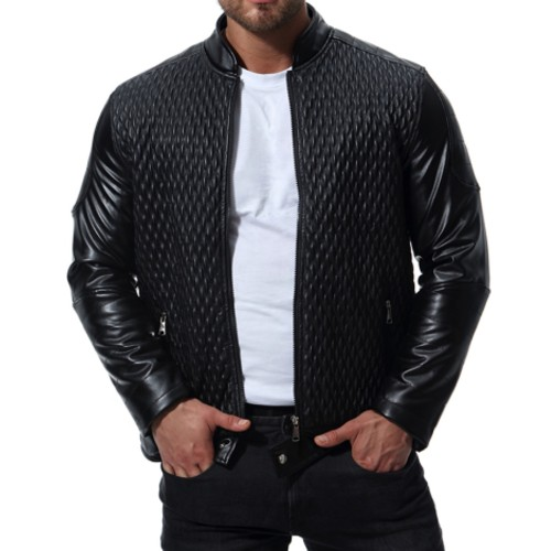 Glorious Black Leather Jacket Wholesale