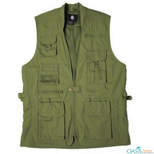 ve Green Military Style Vest