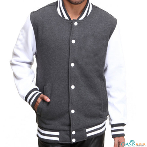 White And Grey Varsity Jacket