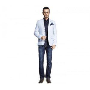 White Designer Mens Suit Jacket