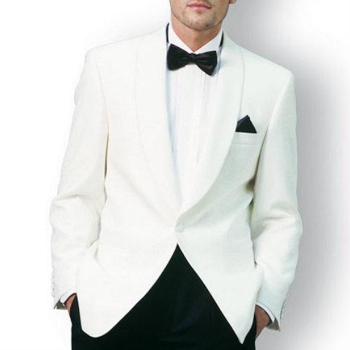White Designer Mens Suit Jacket Manufacturer