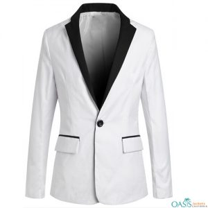 White Long Women's Suit Jacket