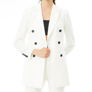 White Long Women's Suit Jacket Manufacturer