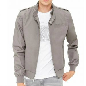 Wholesale Whitish Grey Windbreaker Jacket