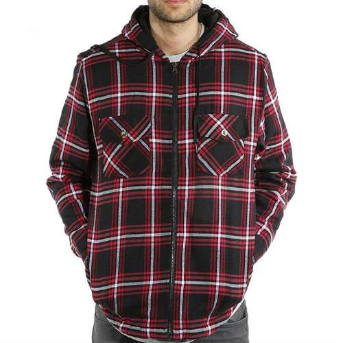 Wholesale Hooded Flannel Jacket