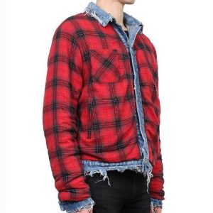 Wholesale Red Blue Flannel Jacket