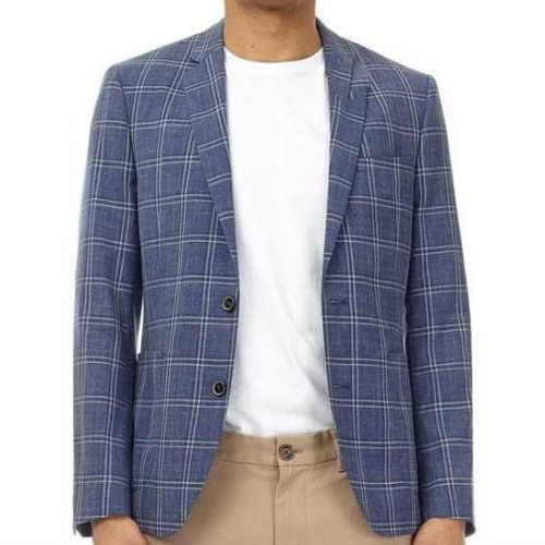 Wholesale Teal Blue Checked Flannel Jacket