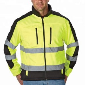 Wholesale Waist Length High Visuality Workers Jacket