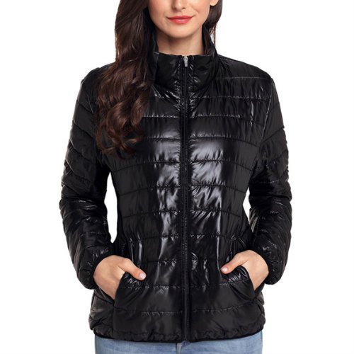 Fashionable Black Quilted Jacket Manufacturer For Women