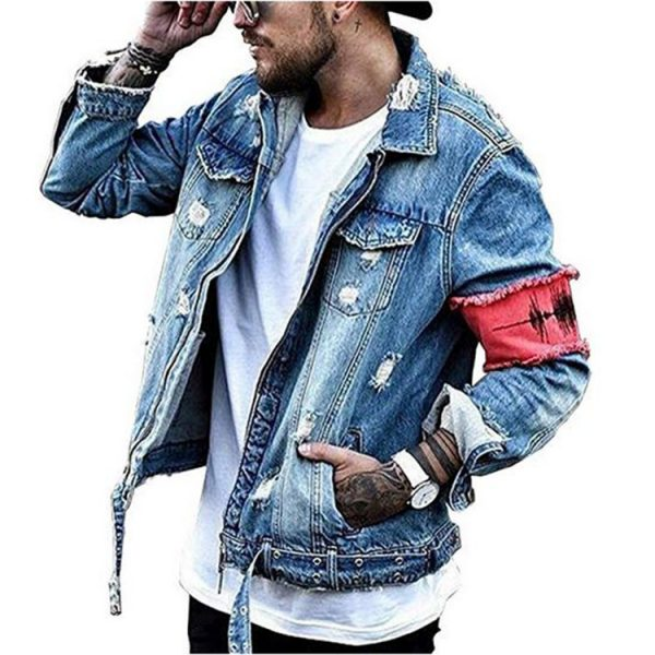 Zipper Men's Denim Jacket Manufacturer